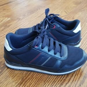Tommy Hilfiger Boys Navy Blue Shoes Sneakers sz 3